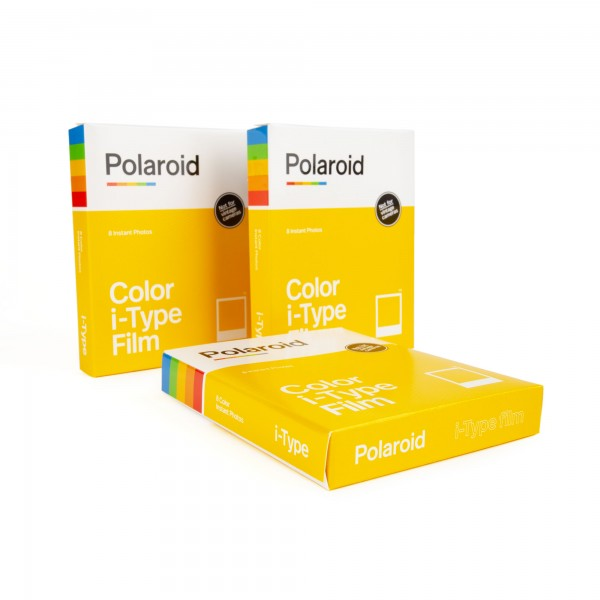 3x Polaroid I-Type Color, 8 Bilder QR Flyer