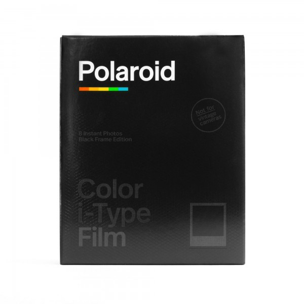 Polaroid I-Type Color, -Black Frame-, 8 Bilder
