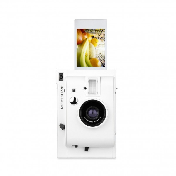 Lomography Instant Kamera inkl. 3 Objektive weiß