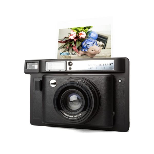 Lomography Instant Wide Kamera inkl. 3 Objektive schwarz
