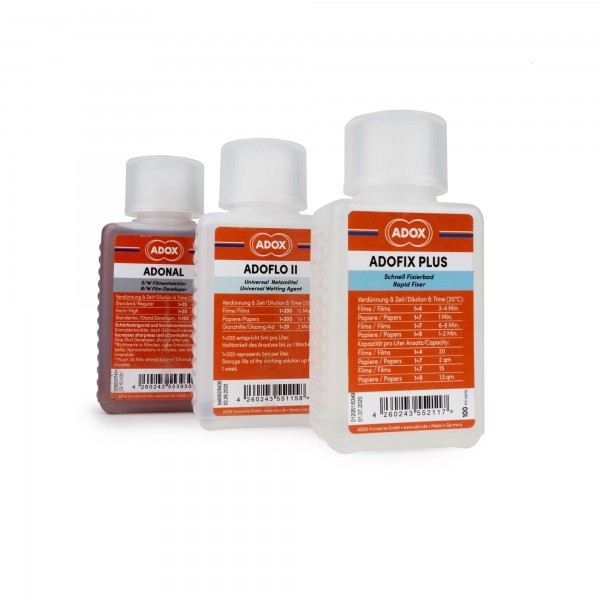 Set ADOX ADONAL, ADOFIX und Adoflo 100 ml Konzentrat