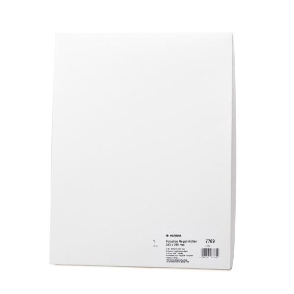 Herma 7769 Fotophan Negtivhüllen, 100 Blatt, DIN A4, 243 x 299 mm, klar