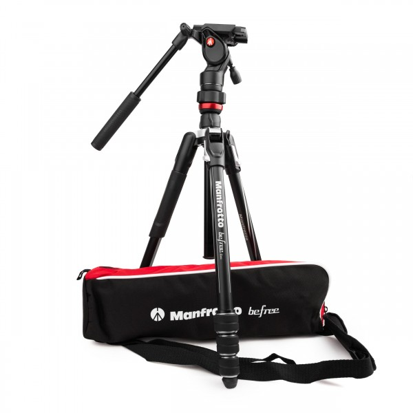 Manfrotto Befree Live Kit Twist Alu mit Fluid-Videokopf