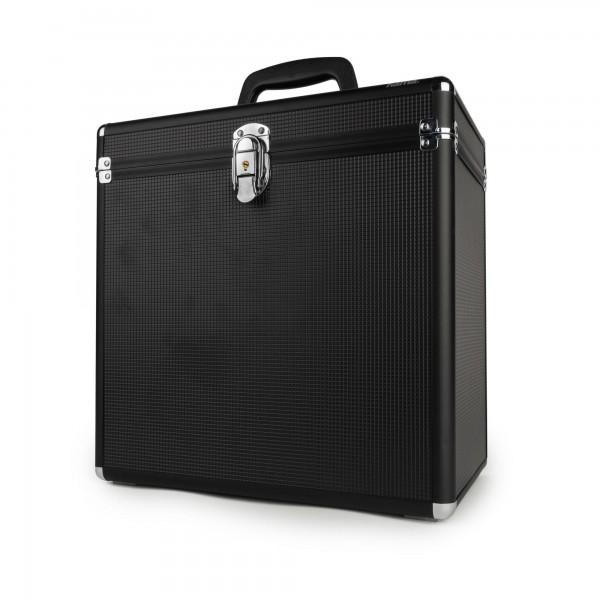 Hama LP-Koffer im Alu-Look schwarz