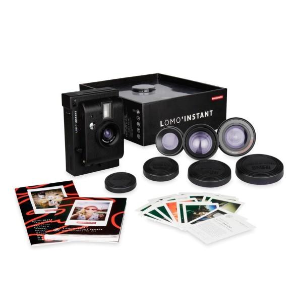 Lomography Instant Kamera inkl. 3 Objektive schwarz