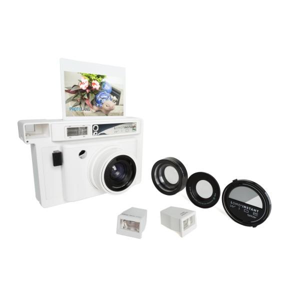 Lomography Instant Wide Kamera inkl. 3 Objektive weiß