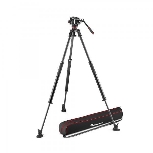 Manfrotto 504X Fluid Video Kit mit 635 Fast Single Carbon Stativ