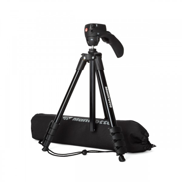 Manfrotto Compact Action Stativ, Kugelkopf, Tasche