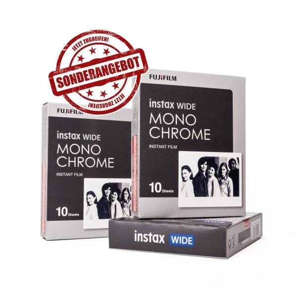 3x Fuji Instax EP Wide Monochrome 10 Blatt - MHD 08/2020