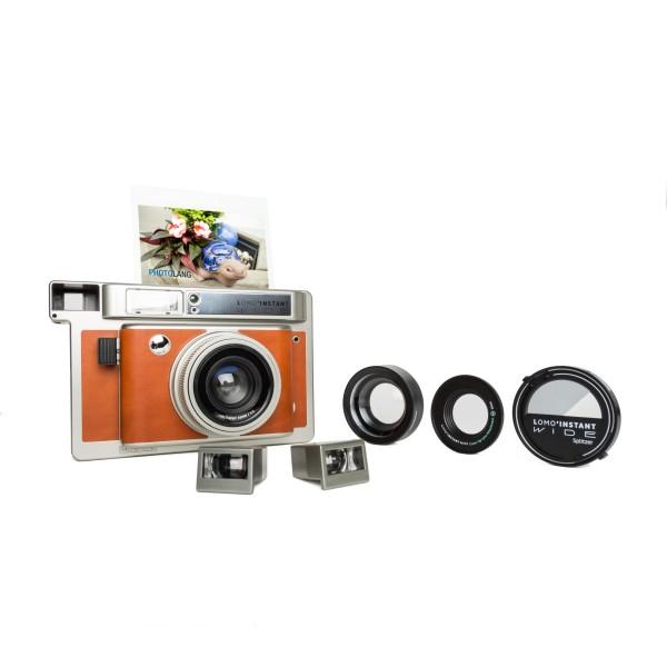 Lomography Instant Wide Kamera Central Park + 3 Objektive