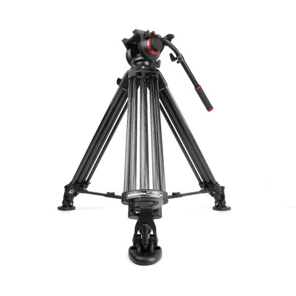 Manfrotto Carbon Videostativ MVTTWINMC & 504 Videokopf Stativ