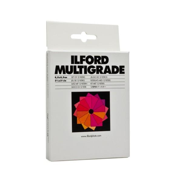 Ilford Multigrade Filter Satz 8,9 x 8,9 cm 12 Stück