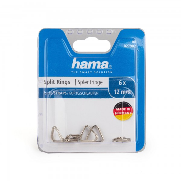 Hama 6er-Set Splentringe/Schlüsselringe 12 mm Silber