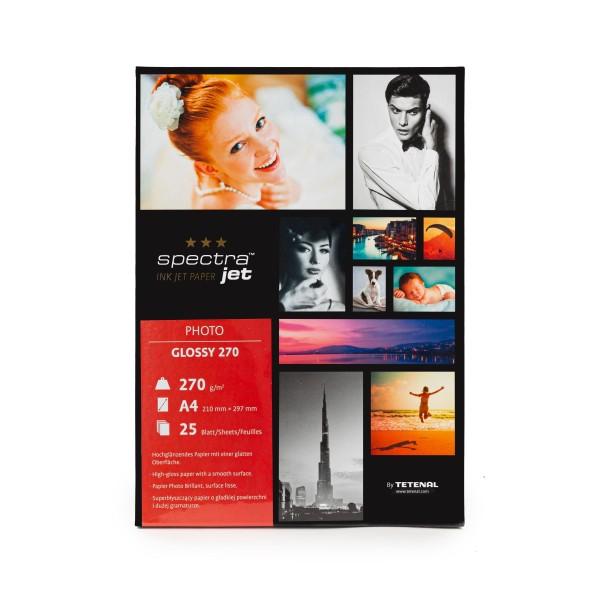 Tetenal SpectraJet Photo Glossy 270g Formatware DIN A4 21x29,7cm 25 Blatt