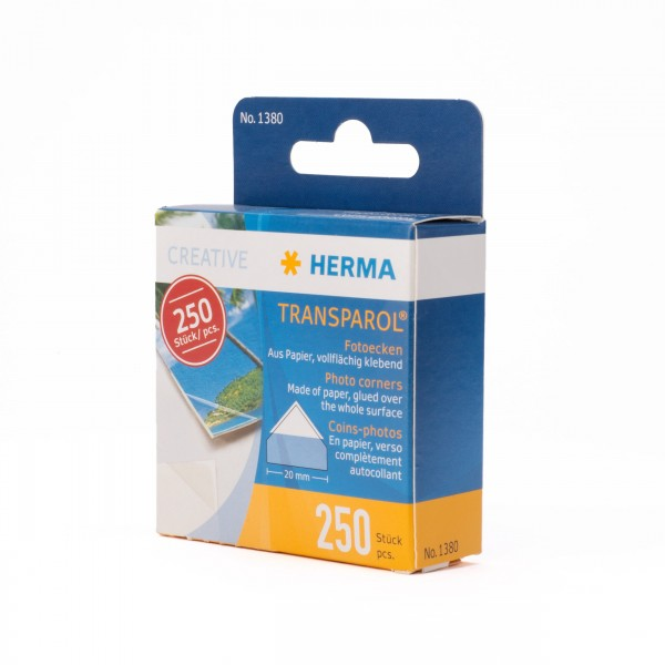 Herma 1380 Transparol Fotoecken 250 Stück