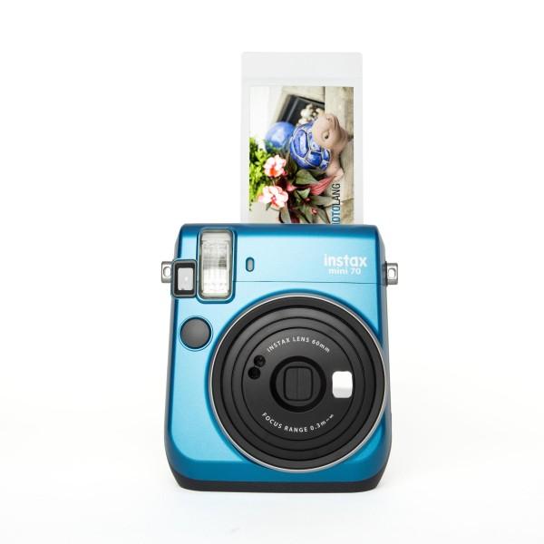 Fuji Instax Mini 70 Sofortbildkamera blau